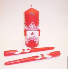 """Купить Семейный очаг """"Ассоль"""" - ярко-красный, семейный очаг, свадебные свечи, свадебный очаг"""