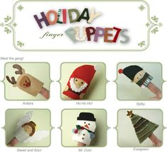 printable templates for christmas finger puppets. cute!