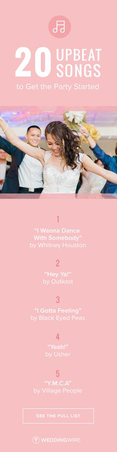 20 Upbeat Songs to Get the Party Started - Get your wedding guests on the dance floor with these go-to hits! From classics to new tracks, see the full playlist on @weddingwire! {Monica Mendoza Photography}