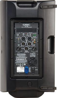 "QSC K12 12"" Powered PA Speaker rear view"
