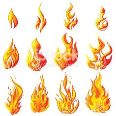How To Draw Flames And Drawing Cartoon Fire Drawing Tutorial How