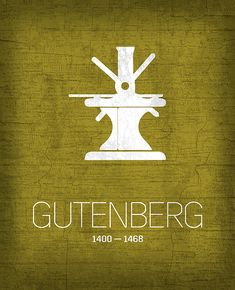 Johannes Gutenberg The Invento. detailed, premium quality, magnet mounted prints on metal designed by talented artists.
