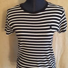 Ralph Lauren Top this is so casual a Ralph Lauren top just like the other listing with the pink and white!!  These both are in excellent shape!!! So ready for spring and summer!!!! Ralph Lauren Tops Tees - Short Sleeve