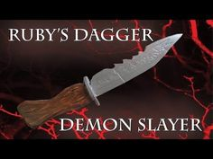 A tutorial on how to make Ruby's Demon Slayer knife from the TV series Supernatural.
