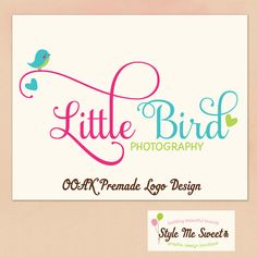 Hand Drawn premade Logo Design   A Sweet by stylemesweetdesign, $55.00