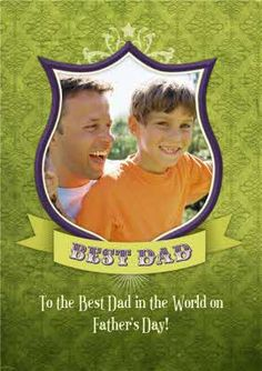 Does Your Dad deserve a trophy this Father's Day? Upload his photo into a shield photo Card for his special day Fathers Day Photo, Photo Upload, Best Dad, Photo Cards, Special Day, Card Making, Dads, Messages, Feelings