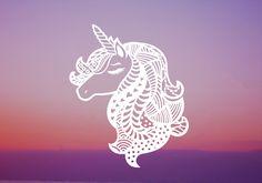 FREE Unicorn Mandala SVG, DXF, PNG & EPS by Caluya Design