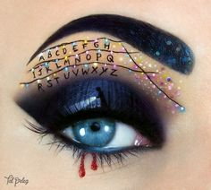 """beauty I Create Halloween Make Up Using Eyes As My Canvas Get Into The Halloween Spirit With This """"stranger Things"""" Makeup Creative Eye Makeup, Eye Makeup Art, Eye Art, Makeup Eyes, Beauty Makeup, Halloween Geist, Stranger Things Halloween, Halloween Eyes, Makeup Tutorials"""