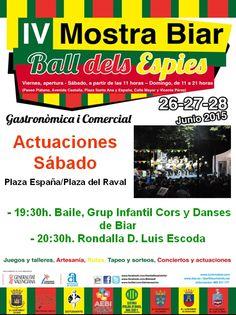 En la #MostraBiar15, el sábado día 27 de junio de 2015 tenemos y con todos vosotros,  - Grup Infantil Cors i Danses de Biar  - Rondalla D. Luis Escoda