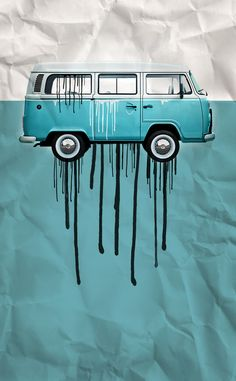 VW kombi 2 tone paint job Art Print