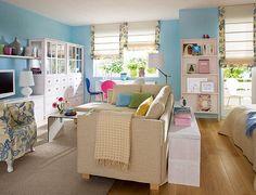 Querido Refúgio, Blog de decoração e organização com loja virtual: Sala de estar, jantar, escritório e cozinha: tudo junto!