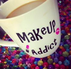 Coffee, product and make up lover, and cute coffee mugs! Cute Coffee Mugs, Cool Mugs, My Coffee, Coffee Cups, Coffee Time, Pretty Mugs, Cute Cups, Makeup Quotes, Gadgets And Gizmos