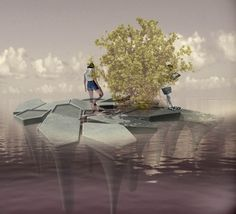 Image 1 of 13 from gallery of CEMEX + Aptum Architecture's Floating Concrete Structures Act as Mangroves for Shorelines. Courtesy of Aptum Architecture
