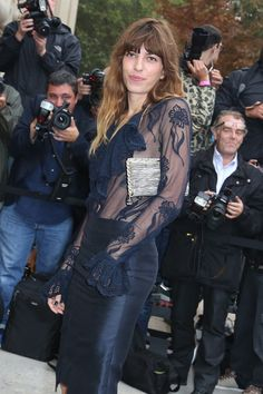 Lou Doillon Photos - Lou Doillon attends Chanel show as part of the Paris Fashion Week Womenswear Spring/Summer 2014 in Paris. - PFW: Arrivals at Chanel Lou Douillon, Charlotte Gainsbourg, Cool Outfits, Amazing Outfits, French Models, Jane Birkin, British Actresses, French Style, Style Icons