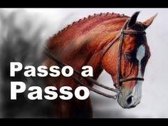 Giz Pastel Oleoso - Cavalo Passo a Passo - YouTube