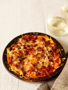 I recently ate a similar dish at a wedding in Italy, where it was cooked in a large, shallow dish. It has the same vibe as a Greek moussaka, but uses pasta rather than potatoes in the layering, making it more of a lasagne bake. The fresh sheets you can buy in supermarkets are very good and well worth using.