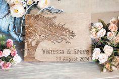 Retro Wedding Guestbook Guest Book Wedding Tree by woodlack, $45.00