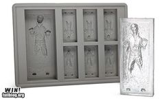 Han Solo ice cube tray / chocolate mold from http://www.thinkgeek.com/homeoffice/kitchen/e845/?cpg=fbl_e845
