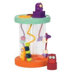 Sjov og farverig puttekasse fra B Toys med små aktiviteter og lyde. Put de sjove putteklodser med ugler i de rigtige rør og hør dem lave lyde. På ydersiden er d