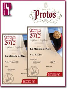 Bodegas Protos consigue dos medallas de oro en el Concours Mundial de Bruxelles 2012