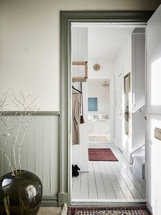 scandinavian interior design Scandinavian Interior Design, Vestibule, Oversized Mirror, Real Estate, Cottage, Inspiration, Furniture, Home Decor, Biblical Inspiration
