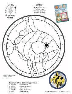 Free Stained Glass Pattern 2214-Stripey the Fish