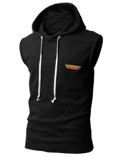 Amazon.com: H2H Mens Sleeveless Fashion Hoodies with Pocket BLACK Asia M (JPSK13_KMT11): Clothing