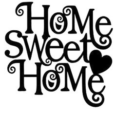 Home Sweet Home Die Cut Vinyl Decal PV1004