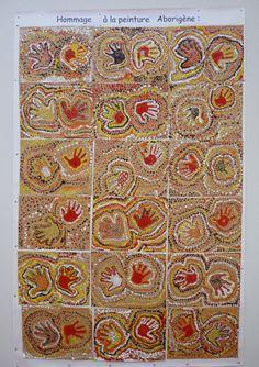 Use hand prints and dot painting to create an aboriginal effect art piece. Aboriginal Education, Aboriginal Culture, Aboriginal Art Kids, Indigenous Education, Kunst Der Aborigines, Kindergarten Art Lessons, Classroom Art Projects, Art Classroom, School Murals