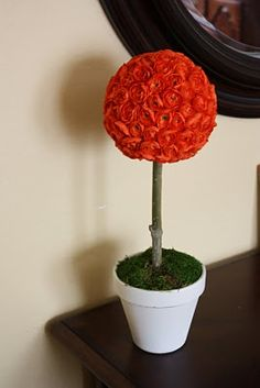The Pretty Poppy: Tutorial -- A Cheerful Flower Topiary
