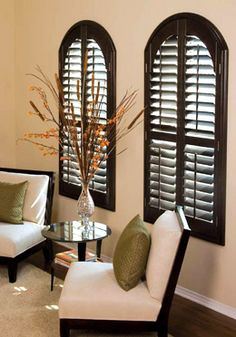 Wood Window Blinds Mainstream of Decoration : Wood Shutter Blinds For Windows. Wood shutter blinds for windows. Arched Window Coverings, Arched Windows, Blinds For Windows, Window Blinds, Blinds Curtains, Shaped Windows, Privacy Blinds, Blinds Diy, Patio Blinds