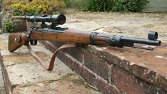 Mauser K98 Sniper:was a bolt action rifle chambered for the 7.92×57mm Mauser cartridge that was adopted as the standard service rifle in 1935 by the German Wehrmacht .It was fitted with a telescopic sight as sniper rifles. Karabiner 98k sniper rifles had an effective range up to 1000 meters (1094 yards) when used by a skilled sniper