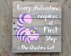 Items I Love by Ashley on Etsy Alice In Wonderland Sign, Adventures In Wonderland, Pokemon, Were All Mad Here, Mad Hatter Tea, Disney Addict, Cheshire Cat, Disney Quotes, Tea Party