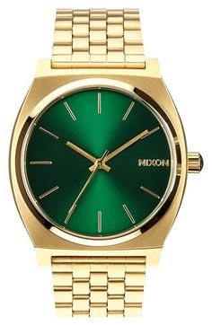 Nixon Time Teller Hold with emerald face