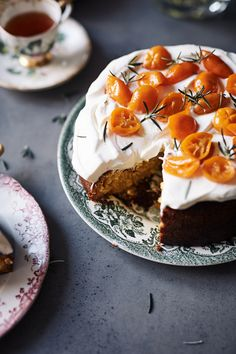 Kumquat and Rosemary Cake « Iron Chef Shellie Winter Desserts, Cupcake Recipes, Cupcake Cakes, Dessert Recipes, Cupcakes, Kumquat Recipes, Tooth Cake, Glaze For Cake, Australian Food