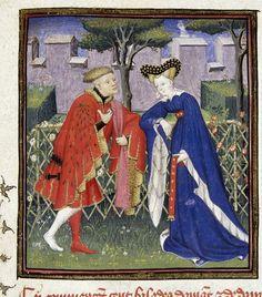 """Due amanti"", miniatura tratta da 'L'Épître Othéa' (1410-1414)"