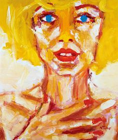 Oil on canvas, 18 by 21 1/2 inches © 2010 Neal Turner     I love her! repin if you love her too