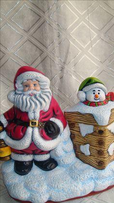 Caramelera de Noel Para caramelos o chocolates. Adorno Polymer Clay Christmas, Polymer Clay Creations, Ceramic Painting, Cold Porcelain, Ceramic Pottery, Snowman, Origami, Diy And Crafts, Angeles