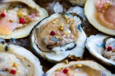 Raw Bar with Asian Mignonette (Oysters and Clams) ~ http://steamykitchen.com