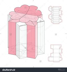 Special Candy Box With Die Cut Template Stock Vector Illustration 377131660 : Shutterstock
