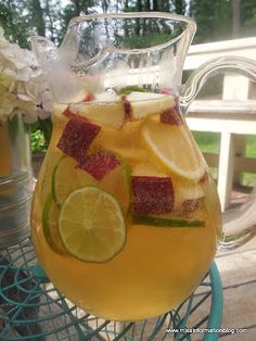 White Wine Sangria the perfect summer cocktail and so easy to make