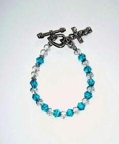 Genuine Blue Zircon December Birthstone Swarovski by IslandGirl77, $13.99