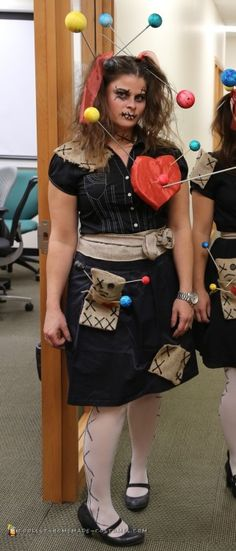 Cool DIY Voodoo Doll Costume for a Woman  sc 1 st  Pinterest & 6494 best Coolest Homemade Costumes images on Pinterest | Homemade ...