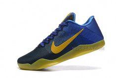 6c7c974f3682b4 2016 Nike Kobe 11 XI Elite Low Mens Basketball Shoes Royal Blue Black Yellow  Sneakers Online Cheap For Sale