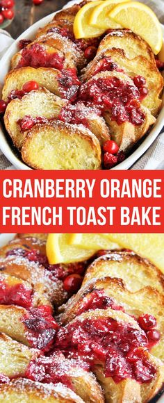 Wake up to this delicious Cranberry Orange French Toast Bake, a festive overnight breakfast casserole perfect for holiday morning! #AHealthyHolidays #ad #breakfast #brunch #holidays