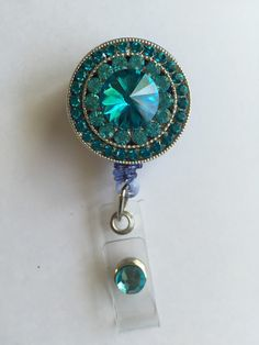 Retractable badge holder by craftylovehope on Etsy