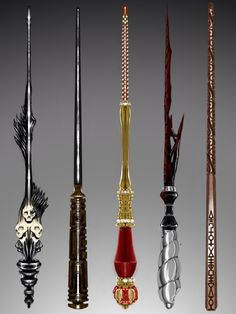 Wand Concept Design: Azkaban Collection by on DeviantArt Hery Potter, Harry Potter Wand, Witch Wand, Wizard Wand, Sirius Black Wand, Diy Wand, Fantasy Weapons, Book Of Shadows, Dungeons And Dragons
