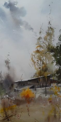 Ilya Ibryaev-Fall-october (watercolor) 55х32cm