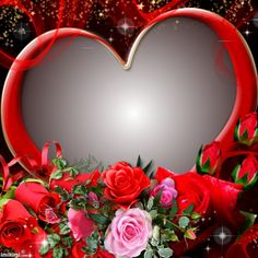 Heart frame show Some Love Photo Background Images, Photo Backgrounds, Wallpaper Backgrounds, Good Morning Coffee Gif, Good Morning Roses, Beautiful Flowers Photos, Flower Photos, Love Frames, Frame It