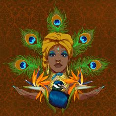 ** West African goddess/orisha of sweet waters, beauty, love, artistry, and prosperity. African Culture, African Art, Oshun Goddess, Yoruba Orishas, African Goddess, African Mythology, Goddess Tattoo, Goddess Of Love, Afro Art